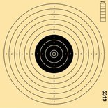 Schietschijf 17x17cm Luchtpistool 10/12mtr