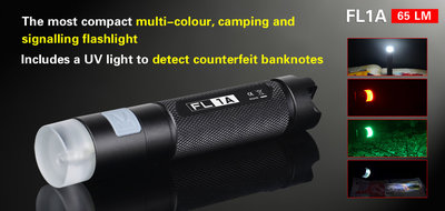 Klarus FL1A LED/UV Multi-Color Zaklamp