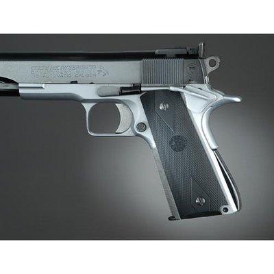 Hogue Checkered Rubber Grip Colt 1911