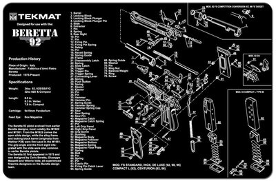 Onderleg Mat Beretta 92