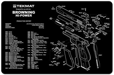 Onderleg Mat Browning Hi-Power