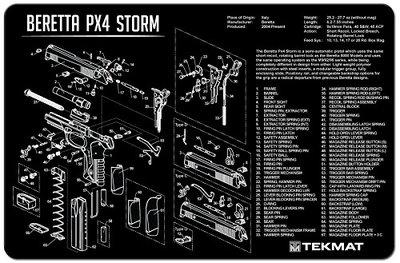 Onderleg Mat Beretta PX4