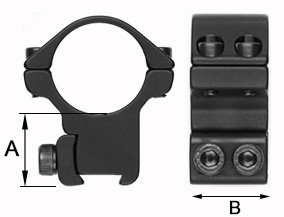 Sportsmatch 34mm Verstelbare Montage Dovetail