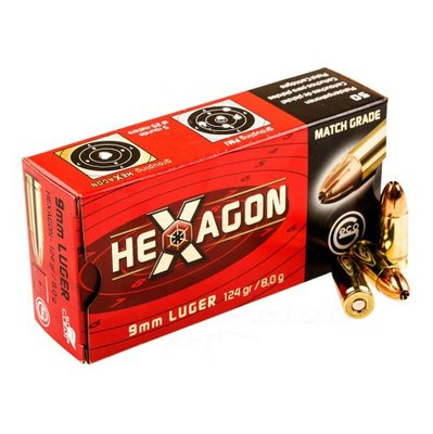 Geco 9mm Luger 124grn Hexagon (50 stuks)