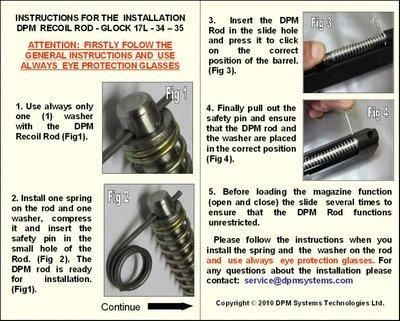 DPM Recoil Systeem Glock 17L / 24C / 34 / 35  Gen 1-2-3