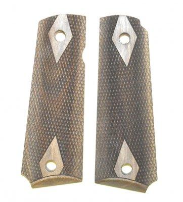 Checkered Houten Grips 1911