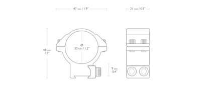 Hawke Match 30mm 2-delige Kijkermontage Dovetail 9-11mm