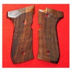 Checkered Houten Grips Beretta 92