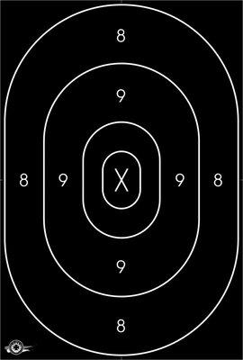 Centerschijf Militair Pistool 31x46cm