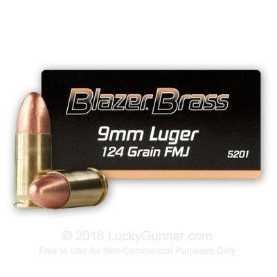 CCI Blazer 9mm Luger FMJ 124grn (50 stuks)