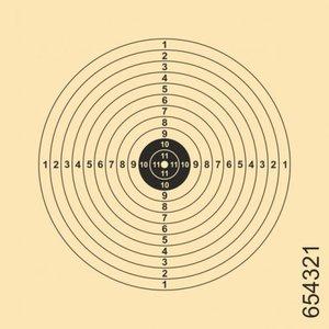 Schietschijf 12-Rings 11x11cm