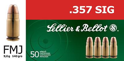 Sellier&Bellot .357Sig FMJ 140grn (50 stuks)