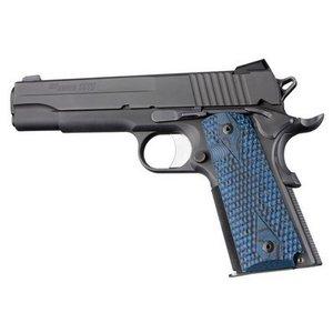 Hogue G10 Mascus Blue Lava Grip Colt 1911
