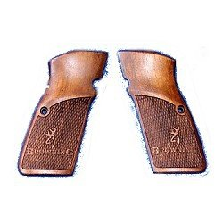Checkered Houten Grips Browning Hi-Power