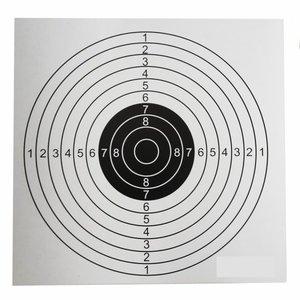 10-rings Schietkaarten 14x14cm