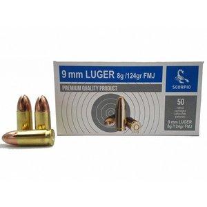 STV 9mm Luger FMJ 124gr  (50 stuks)